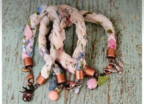 Vintage Hankie Bracelet