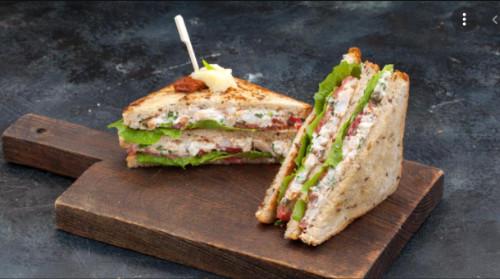 Grilled Ground -beef Sandwich